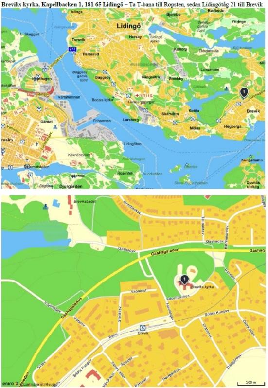Breviks kyrka karta